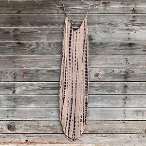 Forever 21 Tie Dye Maxi Dress Spaghetti Strap SZ S
